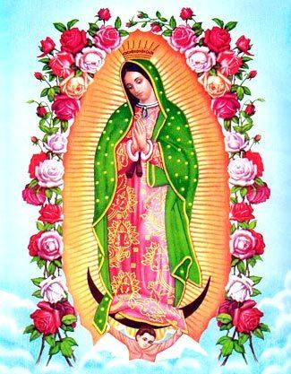 Lindas imágenes V. Guadalupe para colorear en caricatura